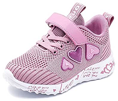 GUBARUN Girls Running Shoes Athletic Tennis Shoes for Kids Lightweight Purple Size: 1 Little Kid