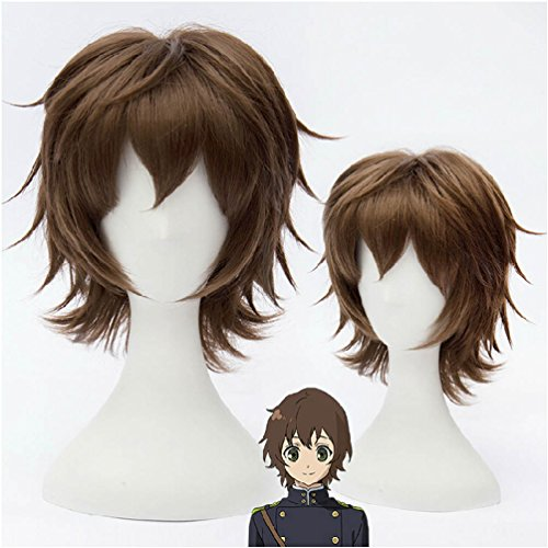 Flovex Short Brown Fluffy Anime Cosplay Wig Natural Costume Party Daily Hair (Daily Costume)