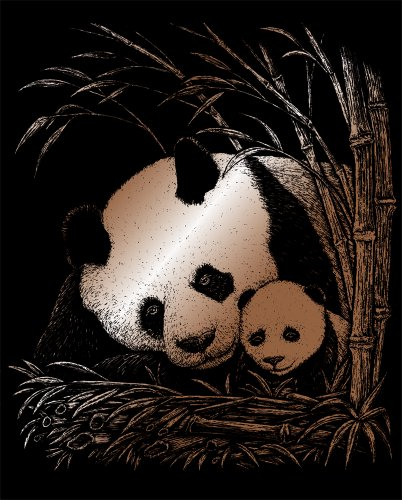 Royal and Langnickel Copper Engraving Art, Panda and Baby