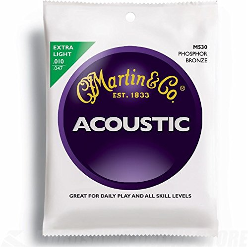 Martin M530 Phosphor Bronze Acoustic Guitar Strings, Extra L