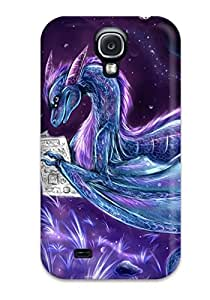 Ideal Galaxy Case Cover For Galaxy S4 Blue Dragon Protective Stylish Case