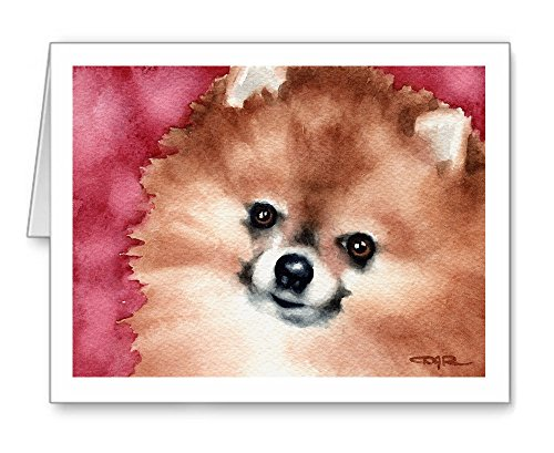 (Pomeranian - Set of 10 Note Cards With)