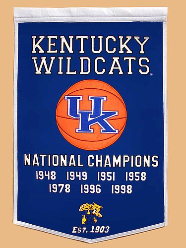 Kentucky Wildcats Dynasty Banner - NCAA Licensed - Kentucky Wildcats Collectibles