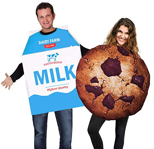 Fun Couples Costumes (Tigerdoe Cookie and Milk Costume - Couple Costumes - Food Costumes - Funny)