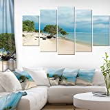 Beautiful Coastline in Indonesia Modern Seascape on Canvas Art Wall Photgraphy Artwork Print