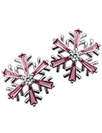 YACQ Jewelry Snowflake Crystal Stud Earrings Christmas Thanksgiving Party Gifts for Women Teen Girls