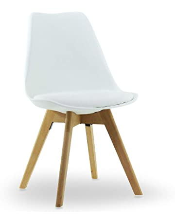 PN HomewaresR Lorenzo Tulip Chair Plastic Wood Retro Dining Chairs White Black Grey Red Yellow