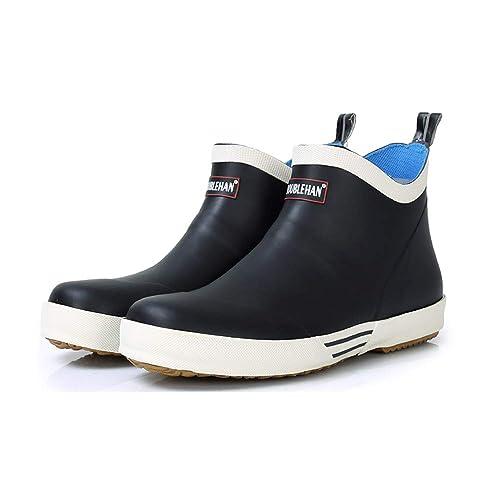 745324207f71e Zapatos de Lluvia para Hombre Zapatos Impermeables Botas Cortas para Hombres  Zapatos acuáticos Botas para Hombres