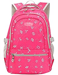 JiaYou Kid Child Girl Multipurpose Printed Alphabet Backpack School Bag