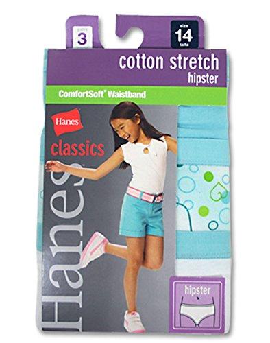 Hanes Classics Girls Cotton Stretch Hipster w/ ComfortSoft Waistband - Classics Cotton Hipster