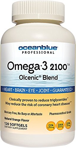 Ocean Blue Omega-3 2100 mg Dietary Supplement Softgels, Natural Orange 120 ea