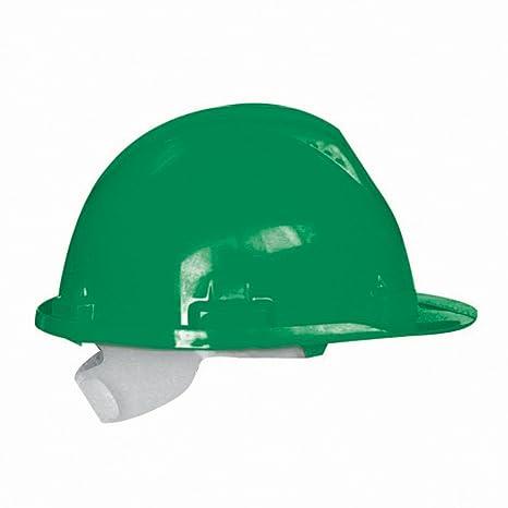 Casco de seguridad (polietileno) verde