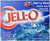 JELL-O Gelatin Dessert, Berry Blue, 6-Ounce Boxes (Pack of 4)