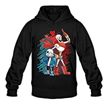 YQUE Men's Undertale Sans And Papyrus Hoodies Sweater Size S Black