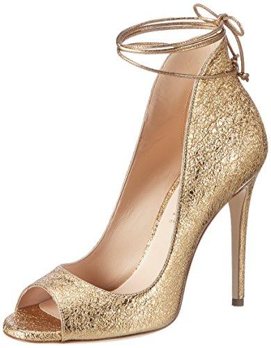 Dei Mille Elena W/Strap, Sandalias con Cuña para Mujer Dorado (Gold)