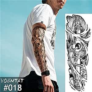 Handaxian 3pcs Tattoo Totem Design Full Flower Tattoo con Brazo ...