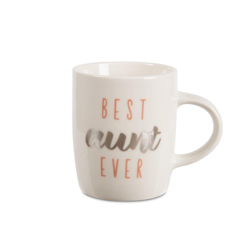 Pavilion - Best Aunt Ever - Silver & Pink - 5 oz Mini Espresso Coffee Mug Pavilion Gift Company 89214