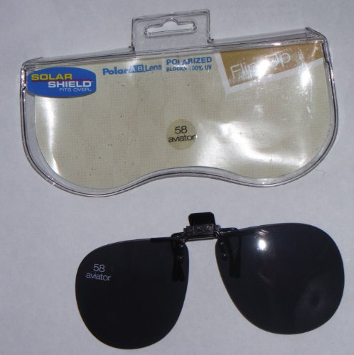 58 Square Solar Shield Polarized Fits Over Flip up Lens by Solar - Eyeglasses Mall Pacific