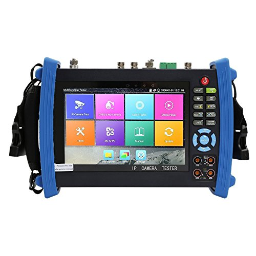 Wsdcam 7 Inch Retina Display IP Camera Tester CCTV Tester CVBS Analog Tester with DMM/TDR/Optical Power Meter/VFL/POE/WIFI/8G TF Card/4K H.265/HDMI In&Out/Firmware Update Upgraded 8600MOVT-Plus by wsdcam