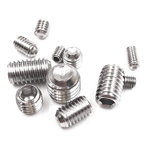 200Pcs 4-40 to 10-32 Set Allen Head Hex Socket Screws Bolts Assortment Kit