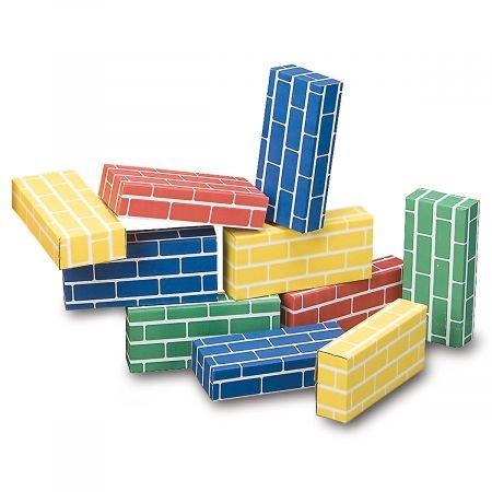 Lillian Vernon Primary Building Bricks- Kids Cardboard Bicks, Each 9