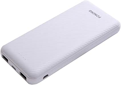FONENG Portable Charger, 10000mAh Power Bank,2 USB Ports External Battery Pack Backup, Ultra Compact Slim Phone Charger Compatible with iPhone Xs X 8 7 6 6s Plus Samsung Galaxy Note 9 S9 Huawei