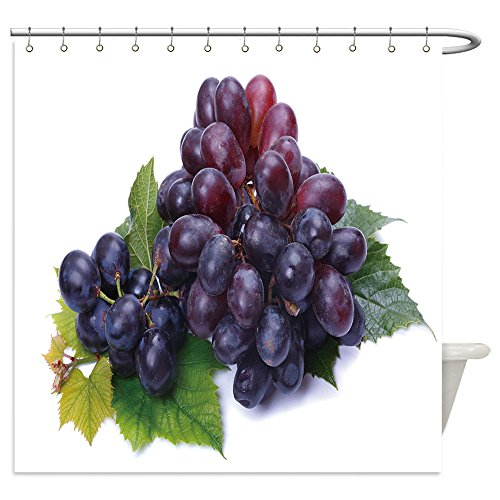 Bunch Of Grapes Costume Ideas (Vanfan Shower Curtains a bunch of dark grapes on a white background 61363648 For Bathroom)
