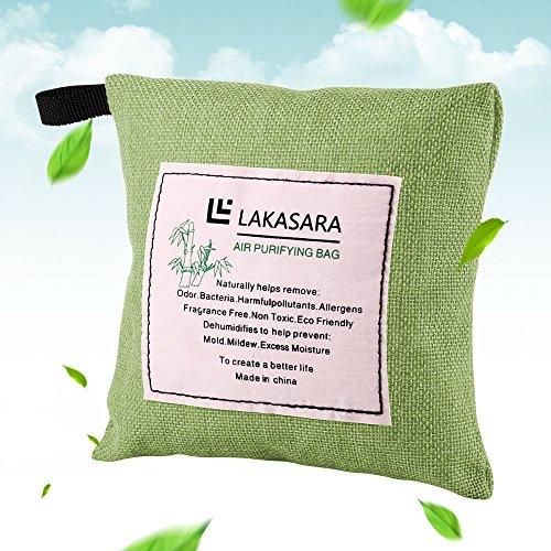 Portable Natural Bamboo Charcoal Air Purifying Bag, 200g, Light (Laundry Air)
