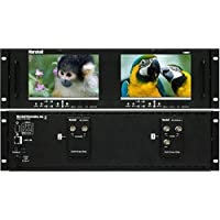Marshall Electronics V-MD72 | Dual 7inch LCD 3 Rack Units Mount Monitor