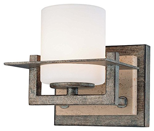 Minka Lavery Minka 6461-273 Transitional One Light Bath from Compositions Collection in Bronze/Darkfinish Compositons 1 Wall Sconce, Upc-747396072081