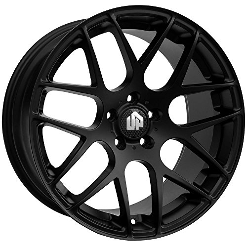 19″ UP720 Staggered 5×114.3 Wheel Set in Matte Black 19×8.5 and 19×9.5 +35 +40 fits JDM Vehicles UP Wheels Rims by Ultimate Performance Wheels