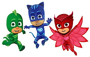 Image Unavailable Not Available For Color PJ MASKS Birthday Edible Frosting 1 2 Sheet Cake Topper