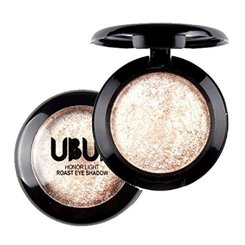 Shimmer Makeup - Misaky Classy Intensity Single Baked Shimmer Metallic Pigmented Eyeshadow Highlighter Pigment Palette (#3)