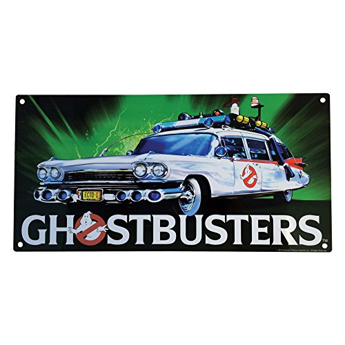 Factory Entertainment Ghostbusters Ecto-1 Metal Sign, 10