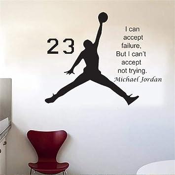 HLLCY Diseño Michael Jordan Etiqueta de la Pared Vinyl DIY Decoración para  el hogar Calcomanías de 3b7f34b7b8e