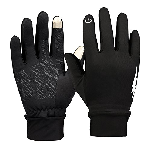 Winter Gloves, Eddis Touch Screen Gloves Thermal Gloves Driving Gloves for Men and Women and Suitable for Spring Autumn and Winter (Elegant Black, S)
