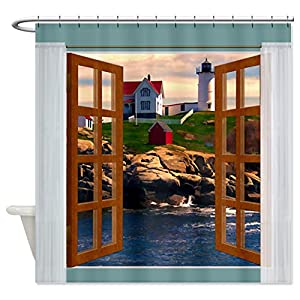 51xnsGPMyvL._SS300_ 200+ Beach Shower Curtains and Nautical Shower Curtains