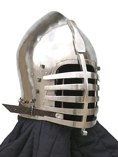 Amazon com : Regent International Medieval Buhurt Helmet