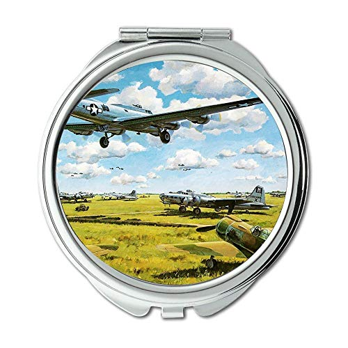 Yanteng World war Aircraft,Mirror,Makeup Mirror,Fighter Flight,Pocket Mirror,Portable -