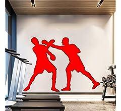 Zaosan Dos Boxeadores Siluetas de Boxeo Pintura Mural Familia Art ...