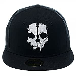 Call of Duty Ghosts Logo Men's Black Fitted Cap - OSFM