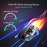 PICTEK Gaming Mouse Wired, RGB Chroma Backlit