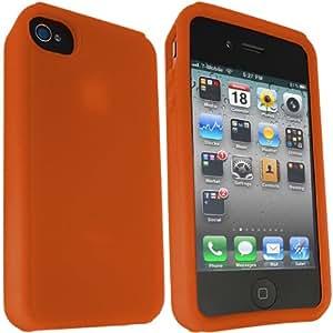 ONX3 naranja piel de silicona caso de Apple iPhone 5