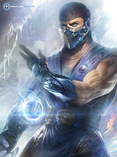 mortal-kombat-character-sub-zero-fan-art-24x32-poster-print