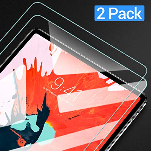 Ainope Screen Protector Compatible ipad pro 11,[2 Pack] Premium Quality Tempered Glass [Bubble Free][Anti-Fingerprint][Easy-Install] HD Scratch Resistance Film for Apple iPad Pro 2018 (11 Inch)