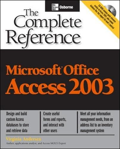 Microsoft Office Access 2003: The Complete Reference, 2/e-cover
