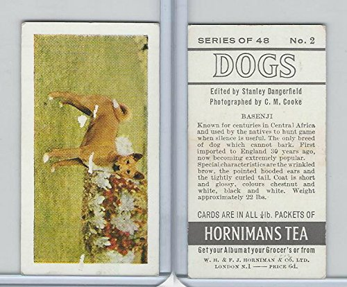 H0-0 Hornimans Tea, Dogs, 1961, 2 Basenji