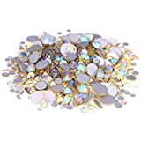 Nizi Jewelry Crystal Non Hotfix Rhinestones Glass Gems Strass Nail Art Decorations Jonquil AB Color (Mixed Sizes 1000pcs)