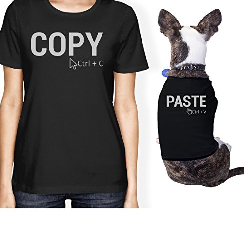 1bed69eed Copy and Paste Small Dog Owner Matching Apparel Gift Black Shirt