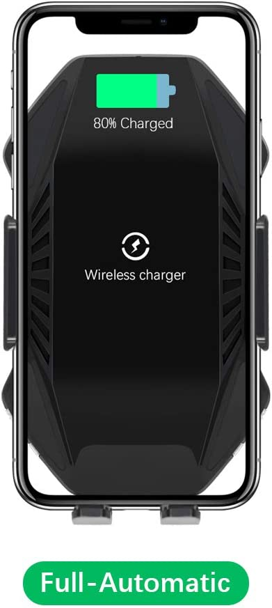 Samsung S10//S10+//S9//S9+//S8 /& All Qi Device T3 Wireless Car Charger Mount Sensor Auto Clamping 10W 7.5W Fast Charging Air Vent Phone Holder Compatible with iPhone 11 Pro Max//Xs//Xs Max//XR//X//8//8 Plus